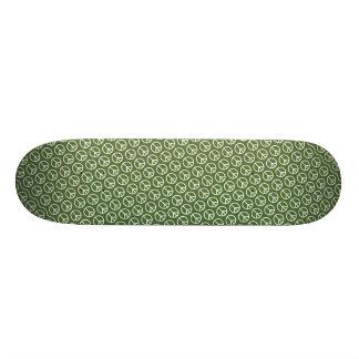 Sinais de paz no verde do pinho do feriado shape de skate 18,1cm