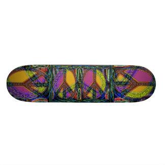 Sinais de paz que emergem. skate boards