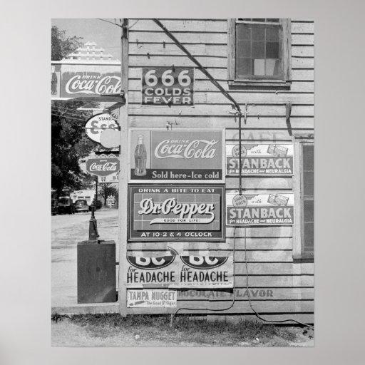 Sinais em uma loja geral, 1938 poster