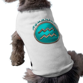 Sinal astrológico do Aquário Camisa Sem Mangas Para Cachorro