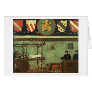 Sinal da guilda dos tecelões Venetian (painel) Cartão