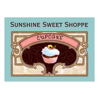 Sinal da loja da bandeira do cupcake modelo cartoes de visitas