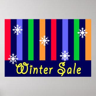 Sinal da loja de venda do inverno impressão