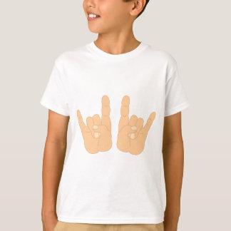 Sinal da mão do rock and roll t-shirt
