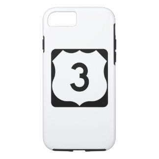 Sinal da rota 3 dos E.U. Capa iPhone 7