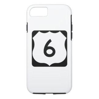 Sinal da rota 6 dos E.U. Capa iPhone 7