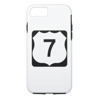 Sinal da rota 7 dos E.U. Capa iPhone 7