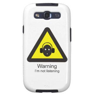 Sinal de aviso engraçado 'que adverte: Eu não sou Capa Personalizadas Samsung Galaxy S3