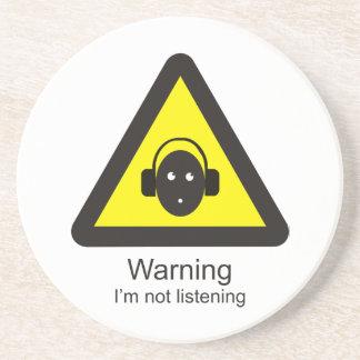 Sinal de aviso engraçado 'que adverte: Eu não sou Porta Copos De Arenito