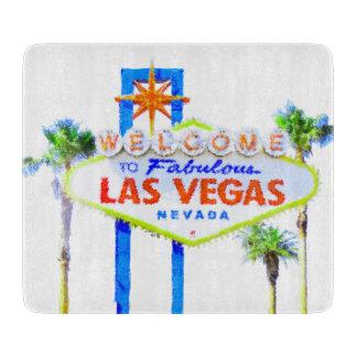 Sinal de boas-vindas fabuloso de Las Vegas Tábua De Cortar
