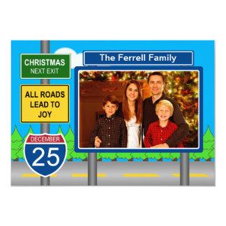Sinal de estrada da autoestrada com foto de convite 12.7 x 17.78cm