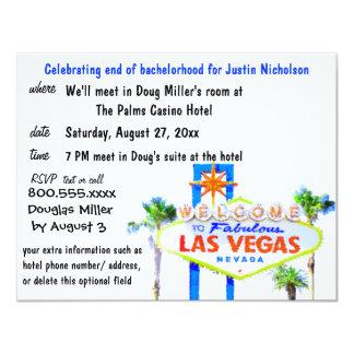 Sinal de Las Vegas do despedida de solteiro Convite 10.79 X 13.97cm
