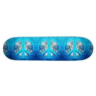 Sinal de paz azul abstrato shape de skate 20cm