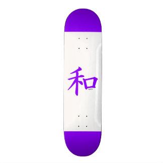 Sinal de paz chinês roxo violeta skateboard