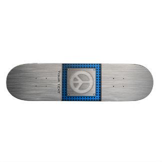 Sinal de paz escovado do metal-olhar skate