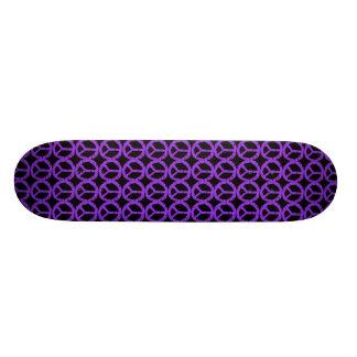 Sinal de paz roxo shape de skate 21,6cm