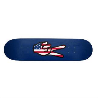 Sinal de paz shape de skate 20,6cm