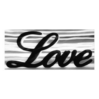 Sinal do amor com as raias claras brancas atrás 10.16 x 22.86cm panfleto