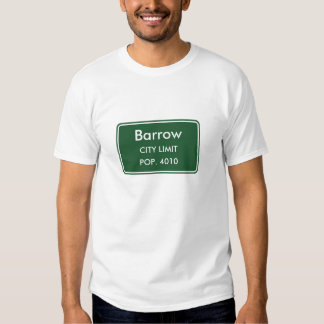 Sinal do limite de cidade de Alaska do carrinho de Camiseta
