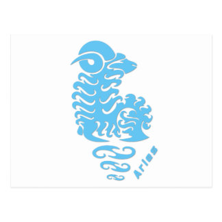 Sinal do zodíaco do Aries Cartão Postal