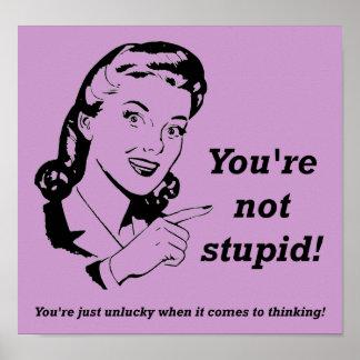 Sinal engraçado do poster do pensador azarado
