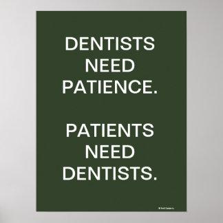 Sinal engraçado do slogan da cirurgia dental do póster