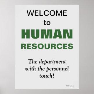 Sinal espirituoso bem-vindo do escritório do poster