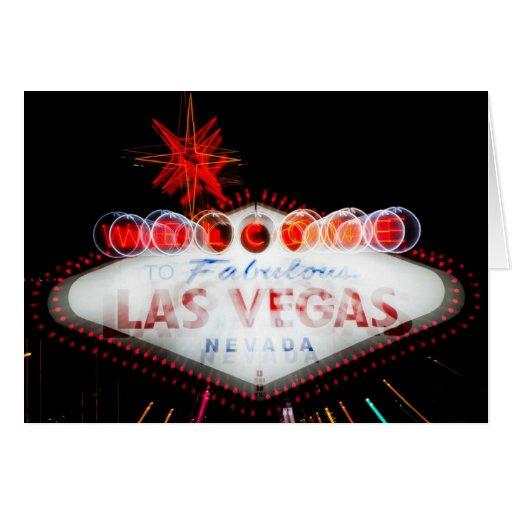Sinal fabuloso de Las Vegas Cartão