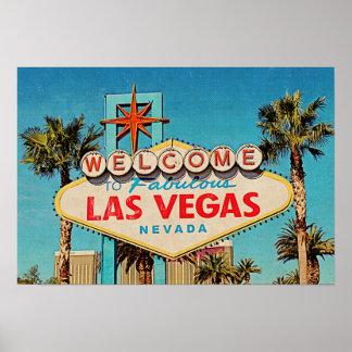 Sinal fabuloso de Las Vegas Nevada da pintura Poster