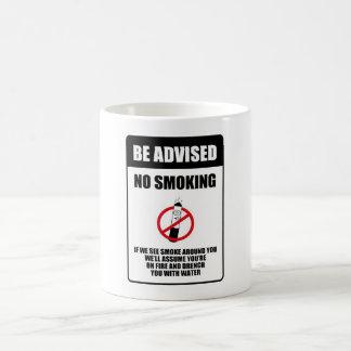 Sinal não fumadores engraçado