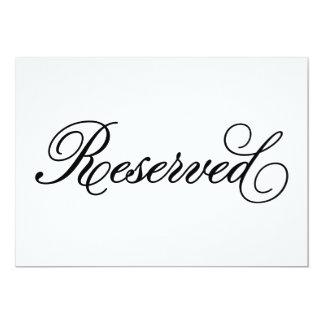 Sinal | reservado clássico do casamento convite 12.7 x 17.78cm