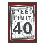 Sinal sujo do limite de velocidade do partido de convites personalizados