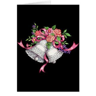 sinos de casamento, cartão de casamento