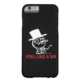 Sinta como um senhor - caixa preta do caso do capa barely there para iPhone 6