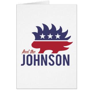 Sinta o Johnson - o porco- do libertário - - Cartão