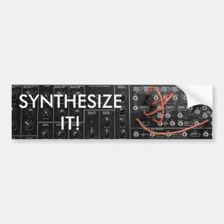 Sintetizador para o músico adesivo para carro