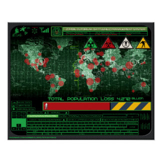Sistema de gestão do campo de batalha da manifesta pôster