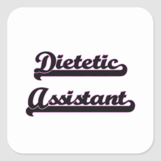 Sistema de trabalho clássico assistente dietético adesivo quadrado