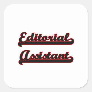 Sistema de trabalho clássico assistente editorial adesivo quadrado