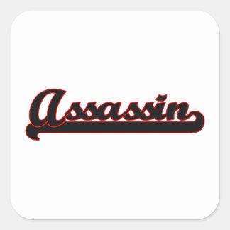 Sistema de trabalho clássico do assassino adesivo quadrado
