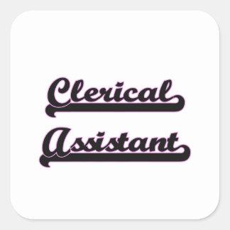 Sistema de trabalho clássico do assistente de adesivo quadrado