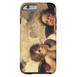 Sistine Madonna, detalhe dos anjos por Raphael Capa Para iPhone 6 Tough