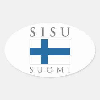 Sisu Suomi Adesivo Oval