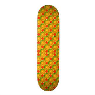 Skate スケートボード vermelho amarelo das bolinhas 4Kyle Sk8