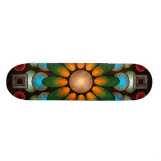 Skate abstrato floral bonito da arte do vetor