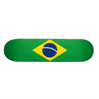 Skate brasileiro da bandeira