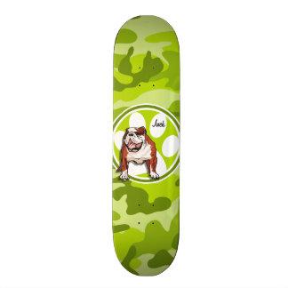 Skate Buldogue; camo verde-claro, camuflagem