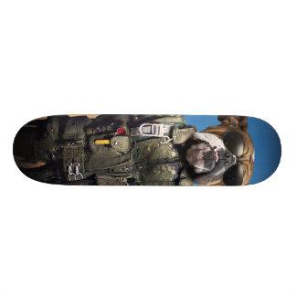 Skate Cão piloto, buldogue engraçado, buldogue