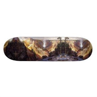 Skate da região selvagem do rio da cachoeira de