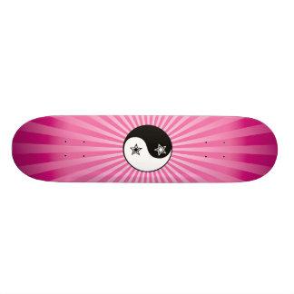 Skate de Yin Yang do Sunburst da estrela